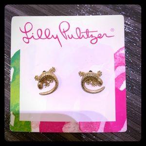 Lilly Pulitzer studded lizard earrings